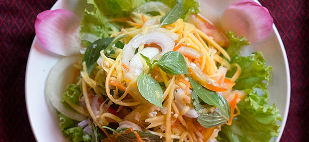 Spicy Papaya Salad at the  Golden Butterfly Villa , Siem Reap, Cambodia, April 2013