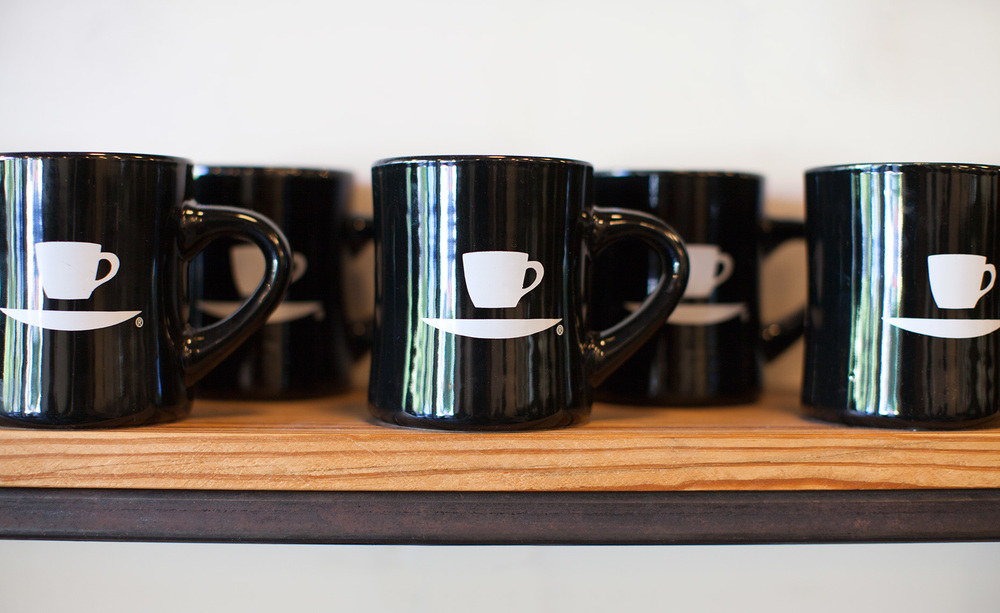 Ninth Street Espresso mugs, great diner shape.
