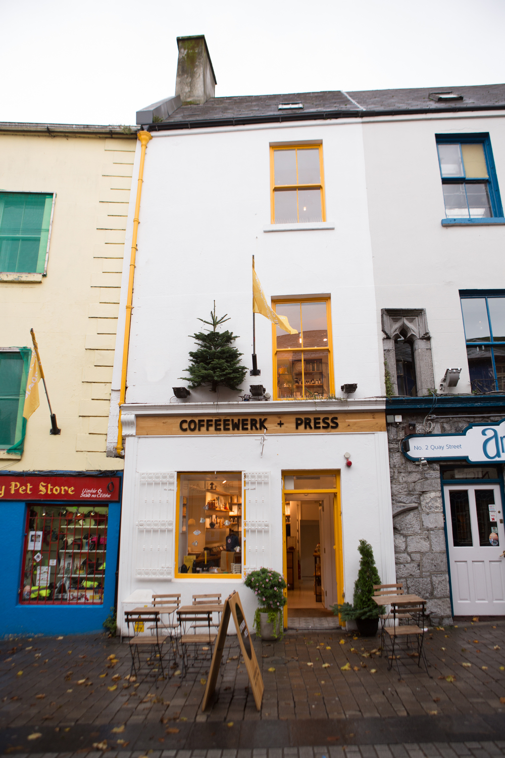 I knew I would love it just by looking at the logo and facade! Coffeewerk + Press, Galway, Ireland November 2015