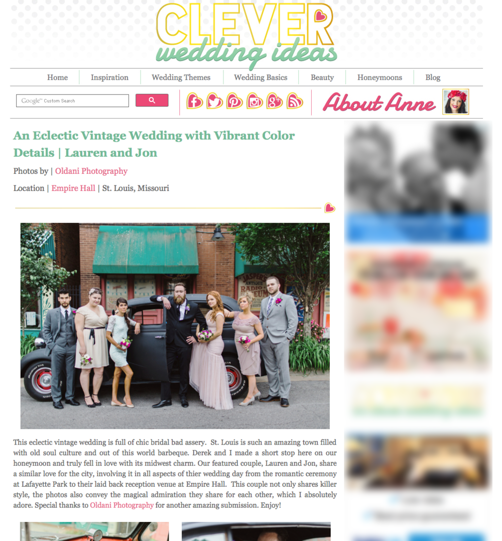 Clever Wedding Ideas Oldani Photography St. Louis Wedding Photographer