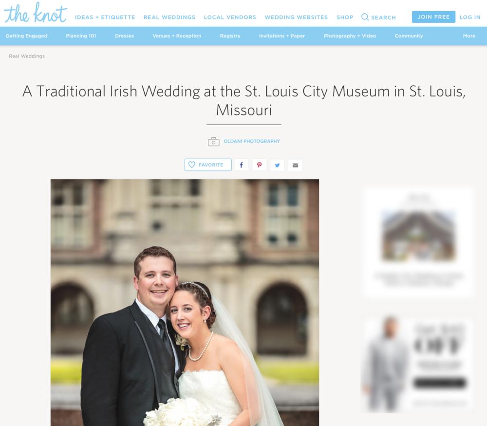 The Knot Oldani Photography St. Louis Wedding Photographers