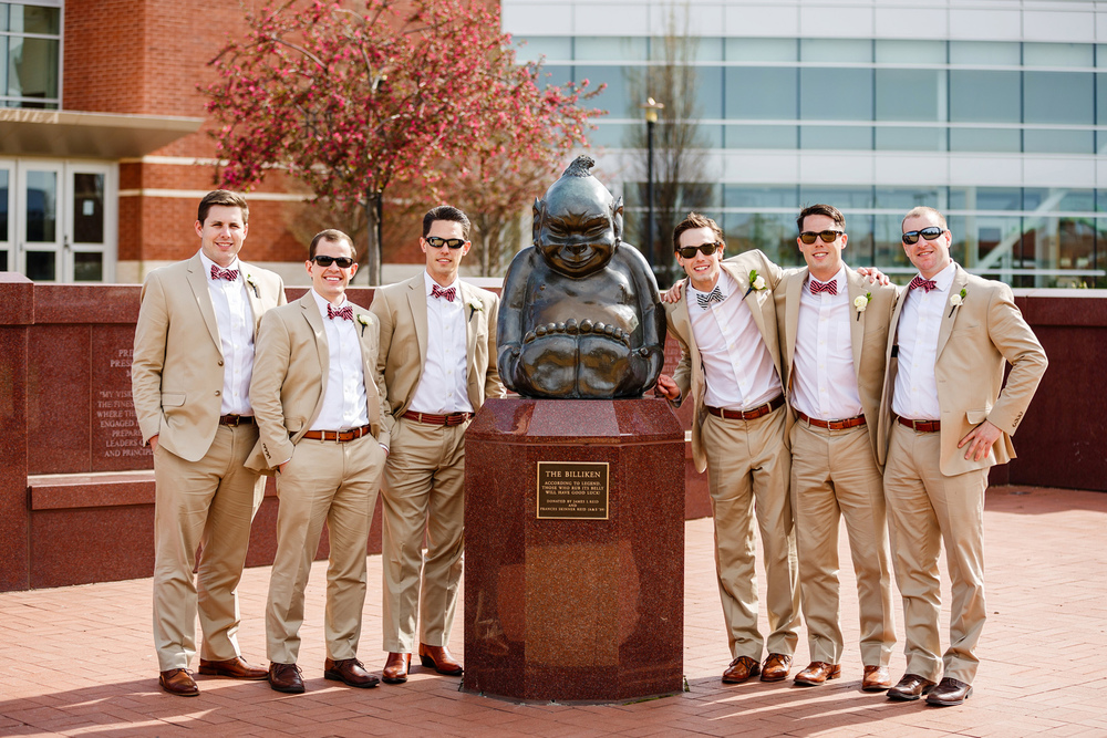 SLU Billiken Wedding Party Photo Oldani Photography