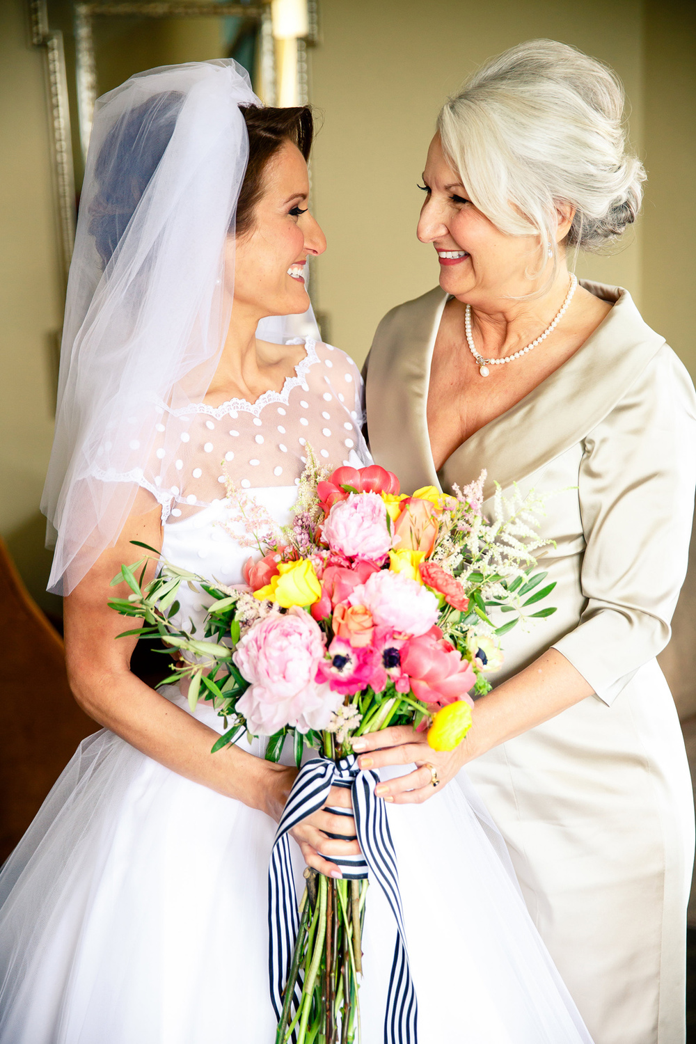 Bride and Mother at Chase Park Plaza