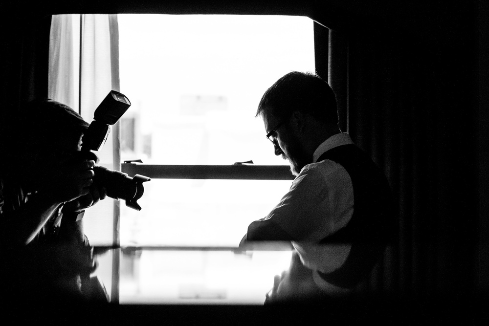 Groom Getting Ready at the Chase Park Plaza