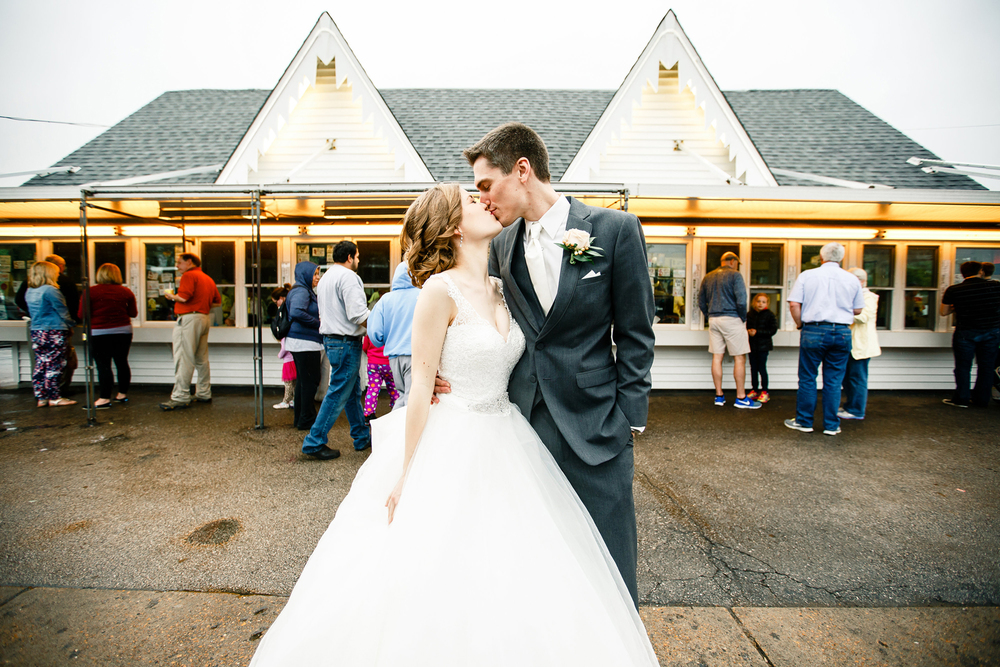 Bride Groom Ted Drewes Wedding Day St Louis Wedding Photographer Oldani Photography 1.jpg