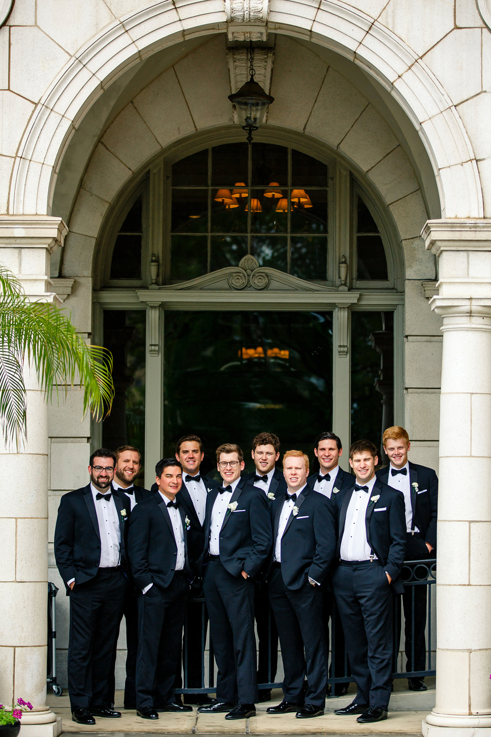 Bride Groom Wedding Party Gray Grey Black Tux Tuxedos Veil St. Louis Wedding Photographers by Oldani Photography 2.jpg