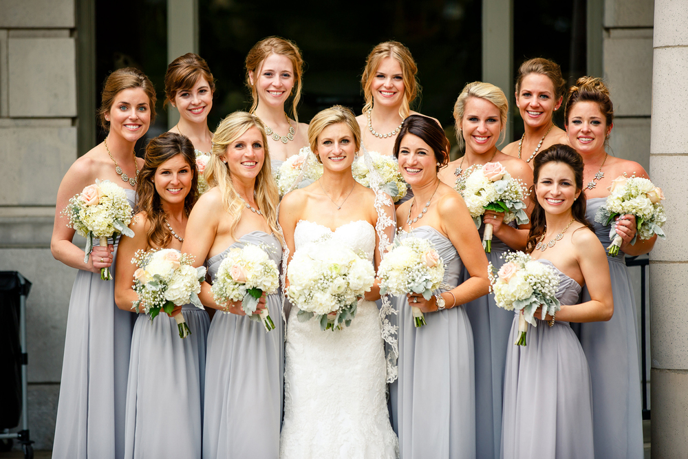 Bride Groom Wedding Party Gray Grey Black Tux Tuxedos Veil St. Louis Wedding Photographers by Oldani Photography 9.jpg