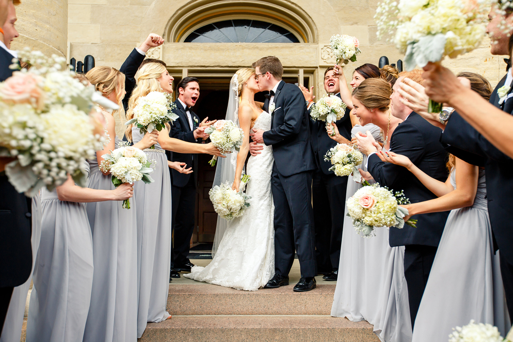 Wedding Party on Steps of Bride Groom Old Cathedral Basilica of Saint Louis, King of France Downtown St. Louis Wedding Photographers by Oldani Photography 2.jpg
