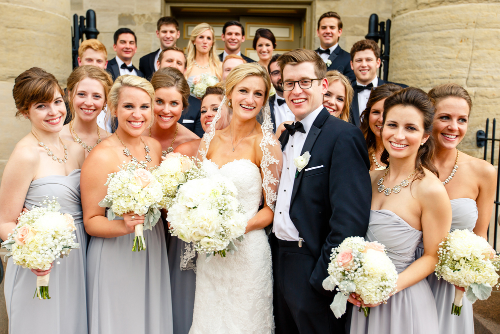 Wedding Party on Steps of Bride Groom Old Cathedral Basilica of Saint Louis, King of France Downtown St. Louis Wedding Photographers by Oldani Photography 3.jpg