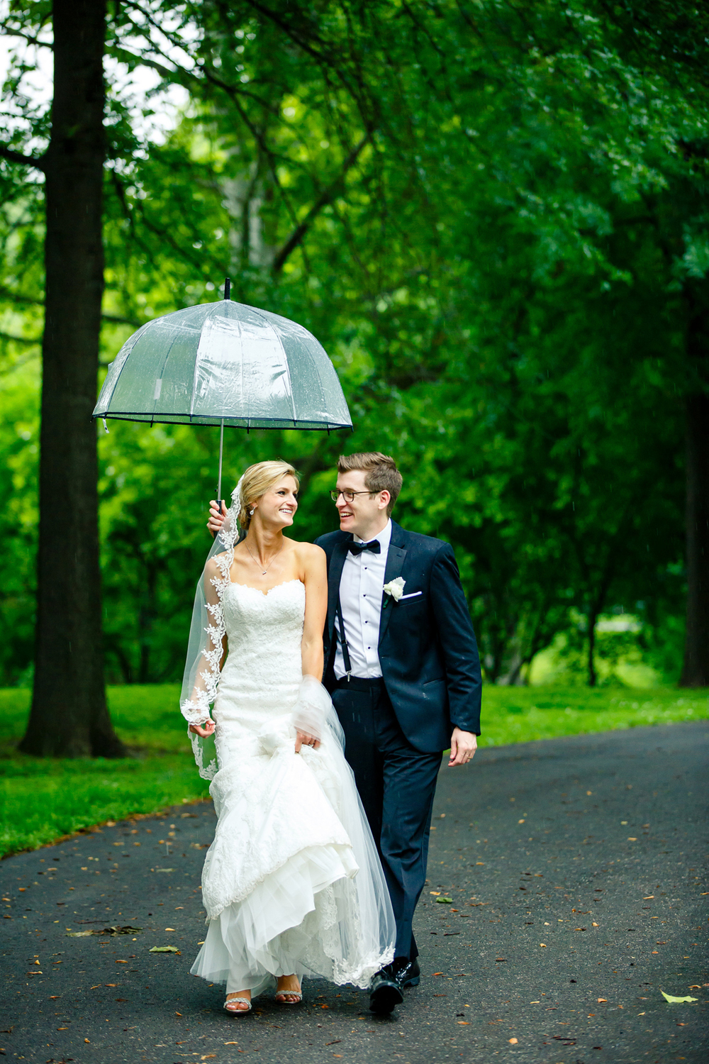 Umbrella Wedding Day Bride Groom Lafayette Square Park St. Louis Wedding Photographers by Oldani Photography 2.jpg