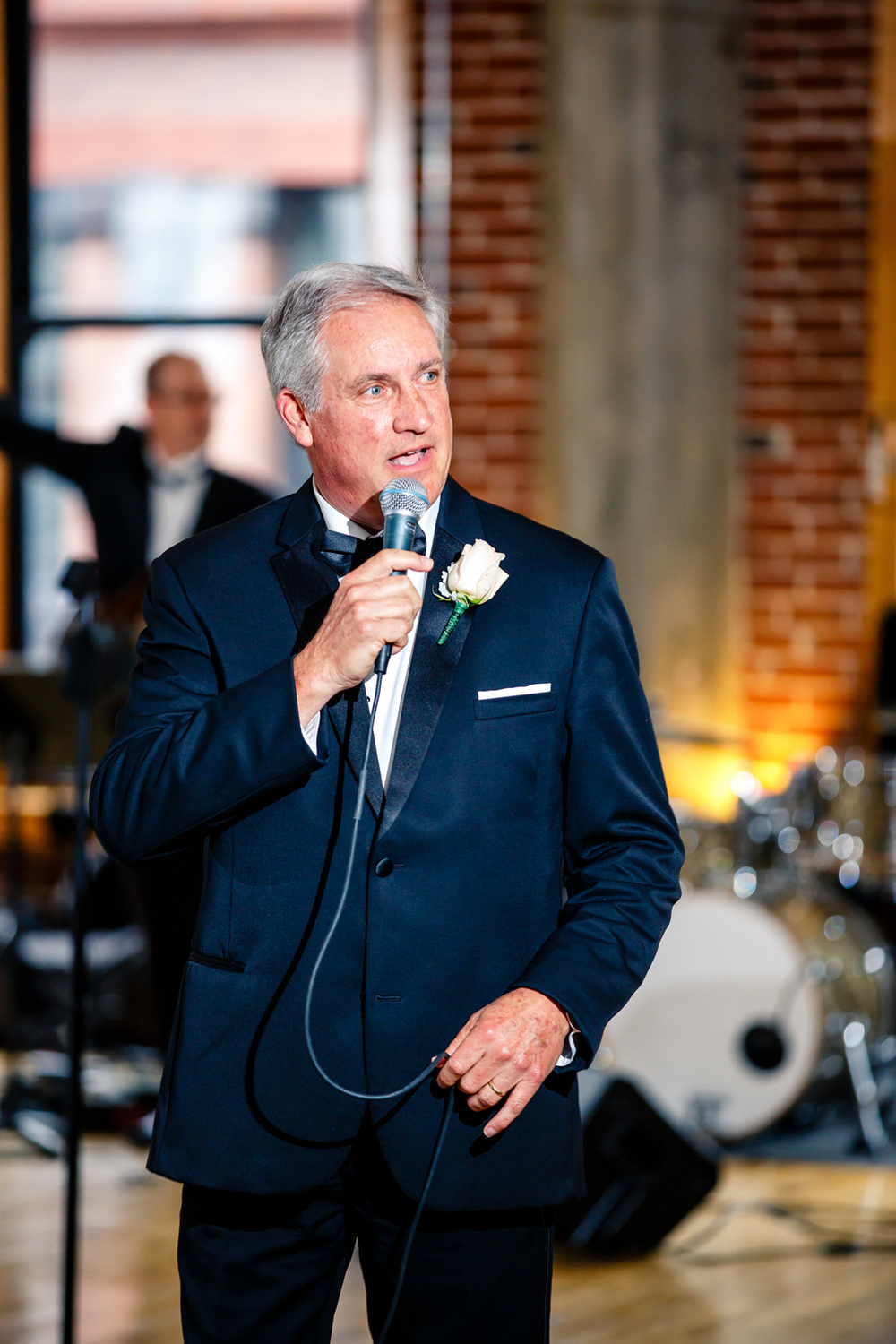 Father of the Bride Speech Gold Wedding Reception at Windows on Washington Downtown St. Louis Wedding Photographers by Oldani Photography 1.jpg