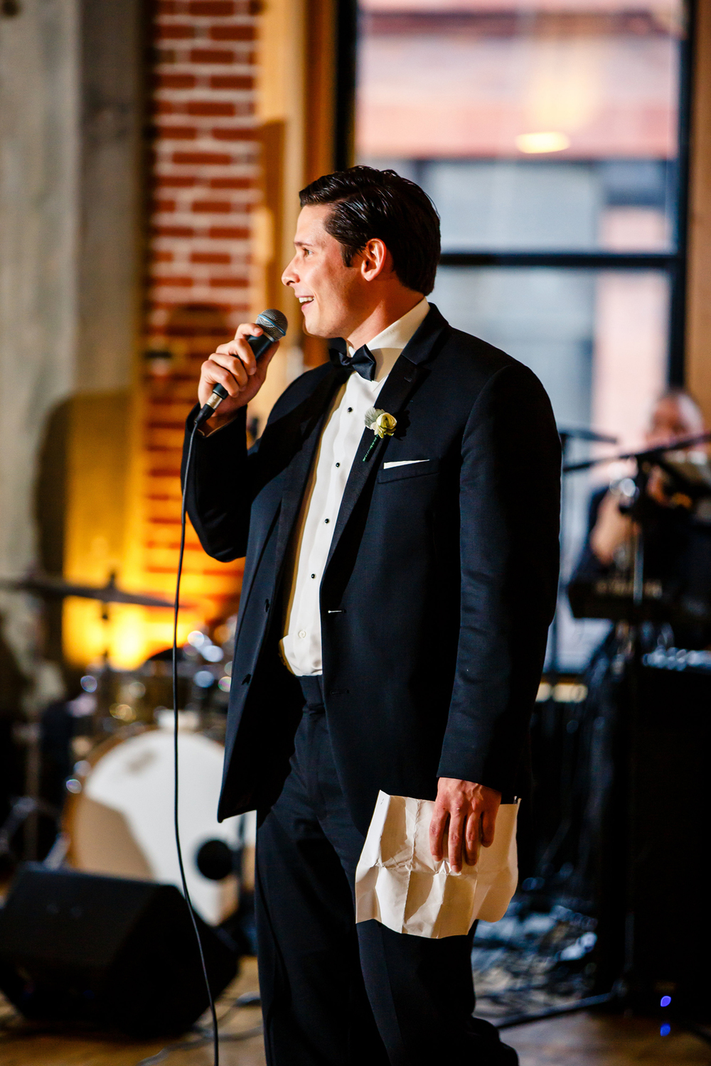 Wedding Party Speeches Gold Wedding Reception at Windows on Washington Downtown St. Louis Wedding Photographers by Oldani Photography 3.jpg