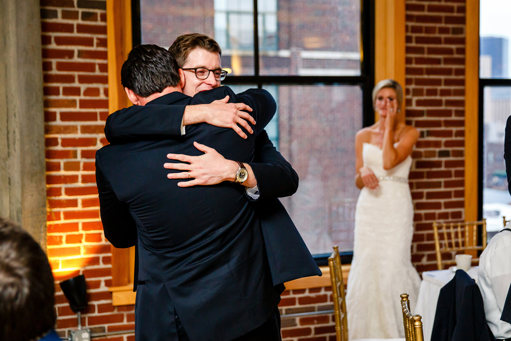 Wedding Party Speeches Gold Wedding Reception at Windows on Washington Downtown St. Louis Wedding Photographers by Oldani Photography 4.jpg