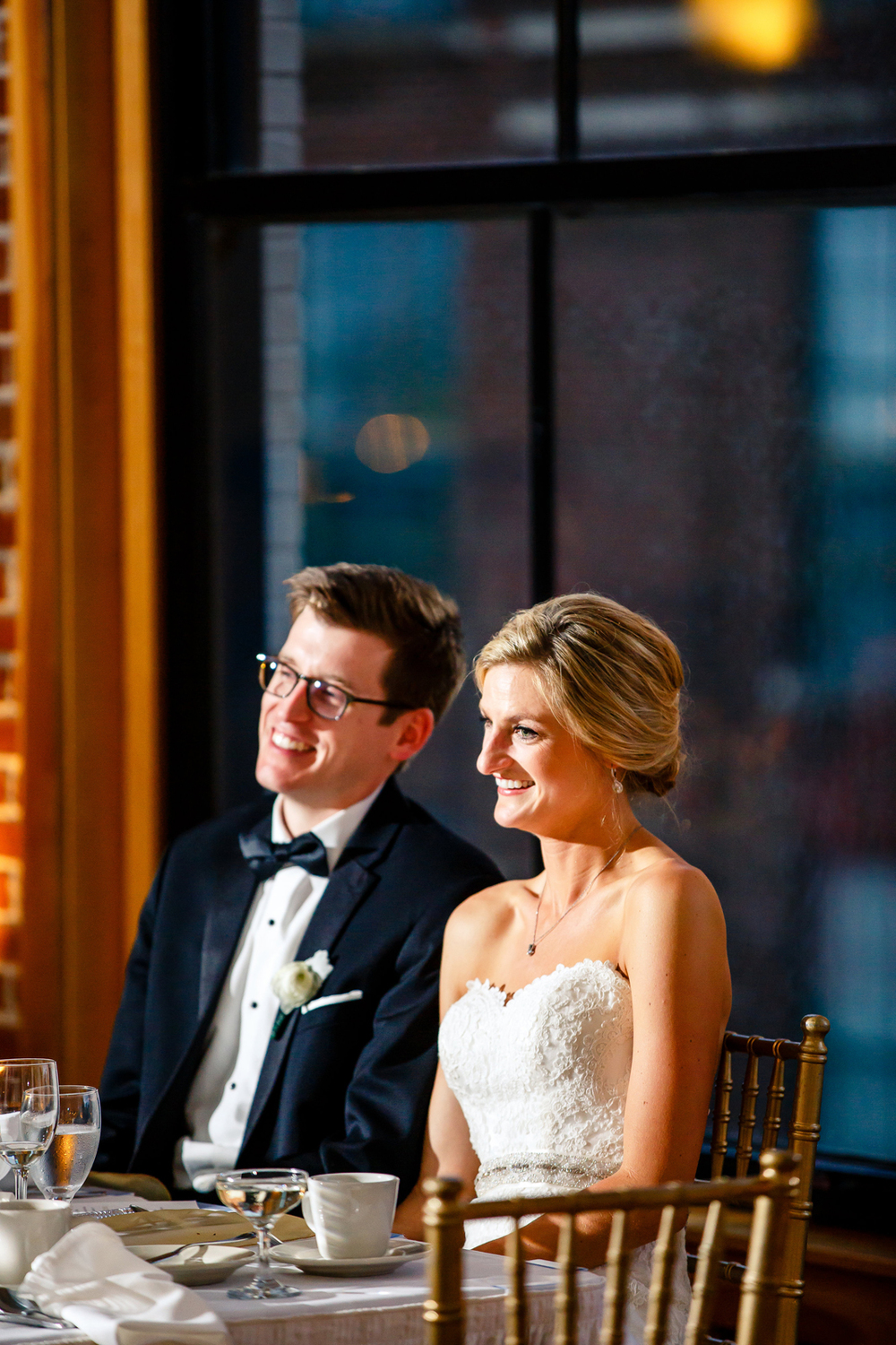 Wedding Party Speeches Gold Wedding Reception at Windows on Washington Downtown St. Louis Wedding Photographers by Oldani Photography 6.jpg