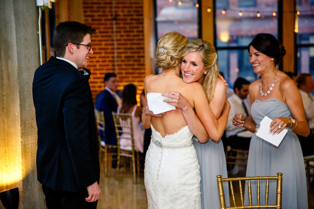 Wedding Party Speeches Gold Wedding Reception at Windows on Washington Downtown St. Louis Wedding Photographers by Oldani Photography 8.jpg
