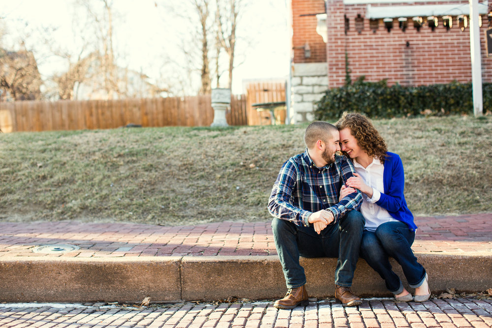 St. Charles Historic Main Street Engagement Photos by Oldani Photography St. Louis Wedding Photographers