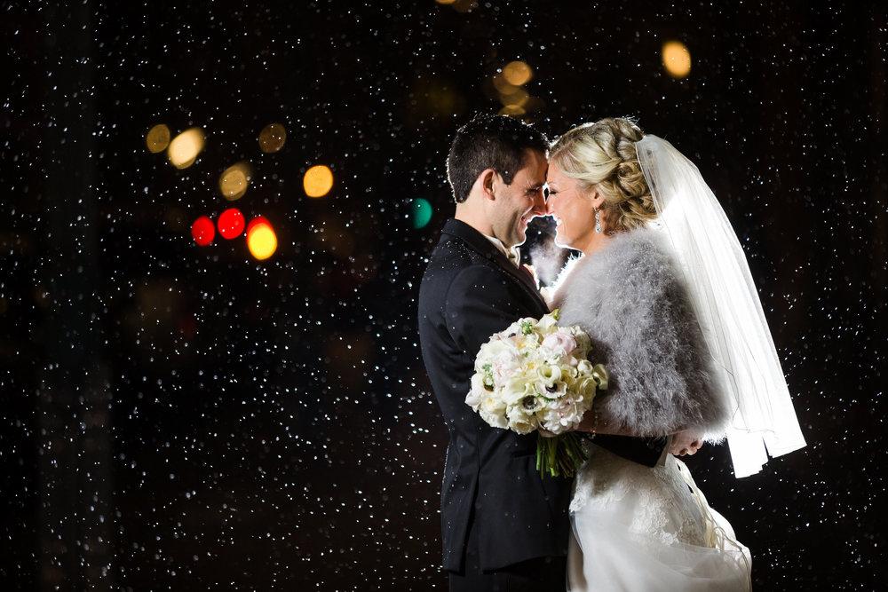 Bride and Groom Photos on Washington Avenue by Oldani Photography St. Louis Wedding Photographers