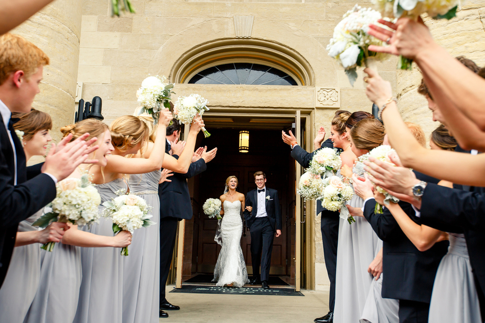 Wedding Party Photos on the Steps of the Old Cathedral by Oldani Photography St. Louis Wedding Photographers