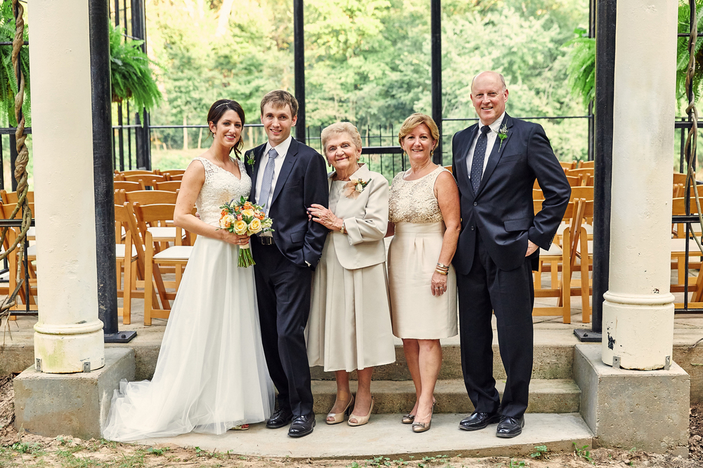 Outdoor ceremony at  The Lalumondiere Mill & Rivergardens .