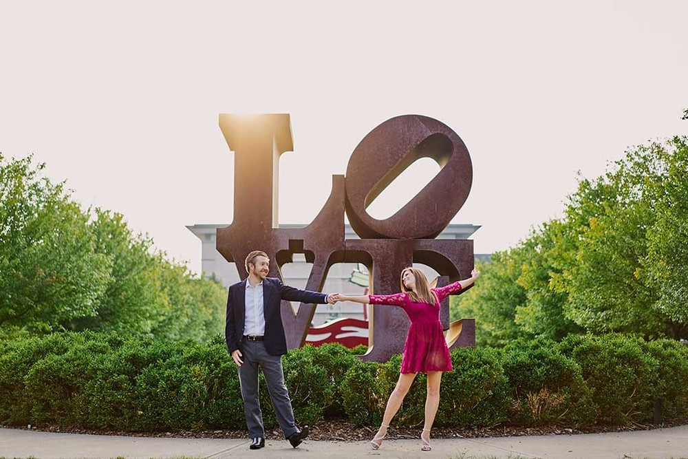 Indianapolis Museum of Art / Coxhall Gardens / The Canal Walk Engagement Photos by St. Louis Wedding Photographers Oldani Photography