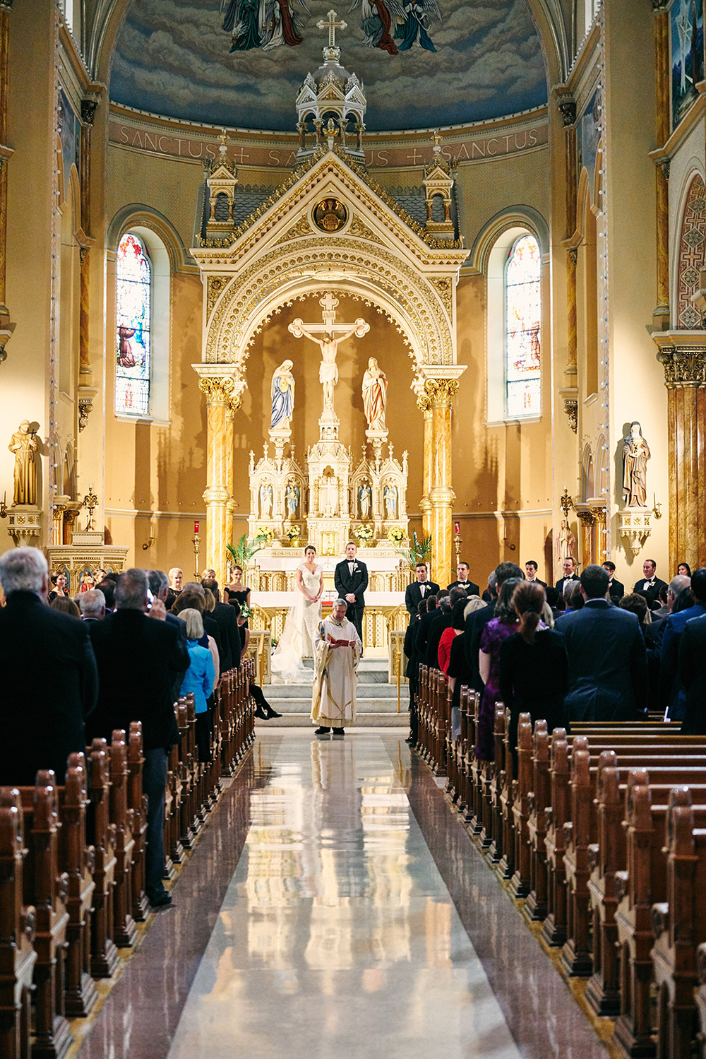 Saint Anthony of Padua Catholic Church Wedding Photos by Oldani Photography - Lafayette Park - Windows On Washington - St. Louis Wedding Photographer