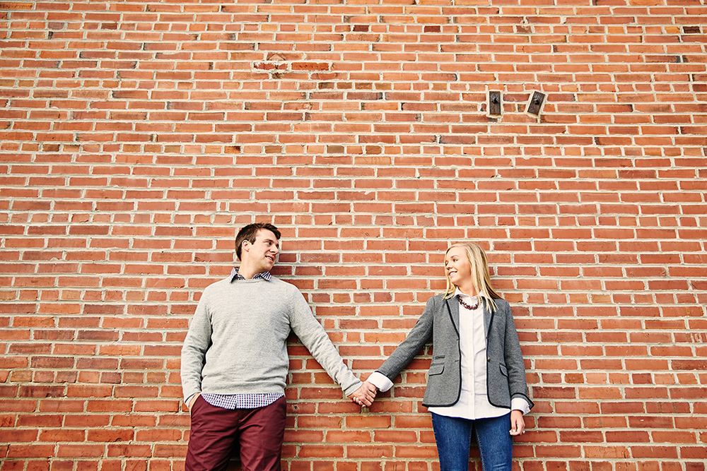 Historic Main Street St. Charles Engagement Photos by St Louis Wedding Photographers Oldani Photography