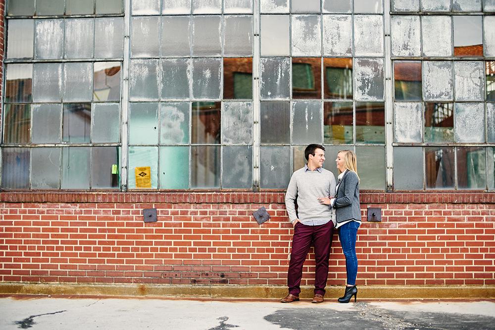 Historic Main Street St. Charles Engagement Photos by St Louis Wedding Photographers Oldani Photography