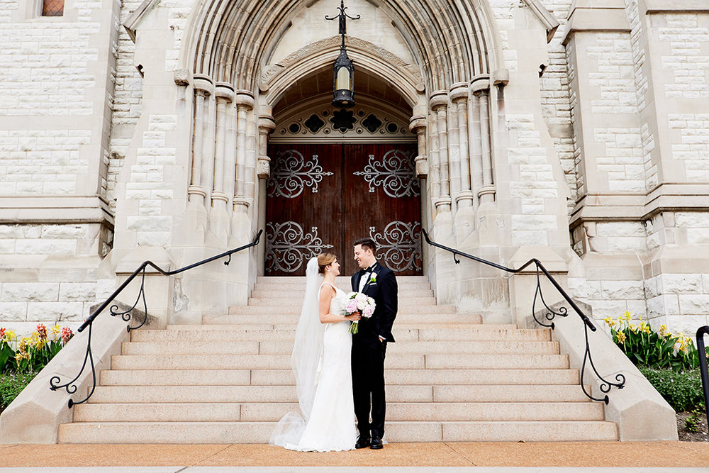 St Francis Xavier College Church Wedding and Windows on Washington Reception by Oldani Photography St Louis Wedding Photographers