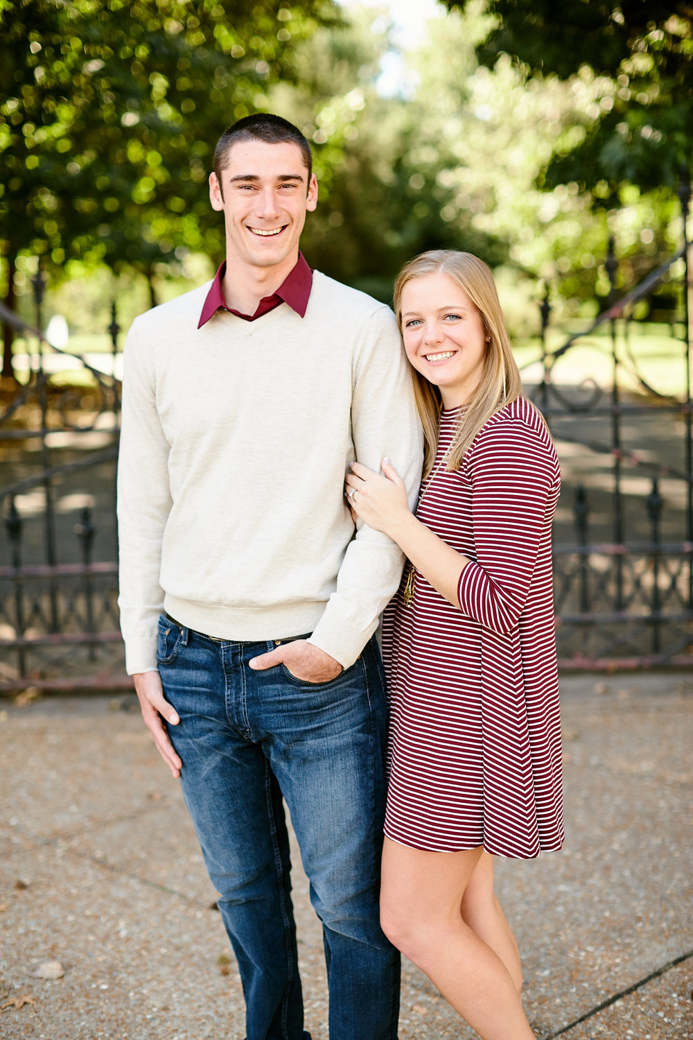 Lafayette Park Engagement Photos by St Louis Wedding Photographers Oldani Photography