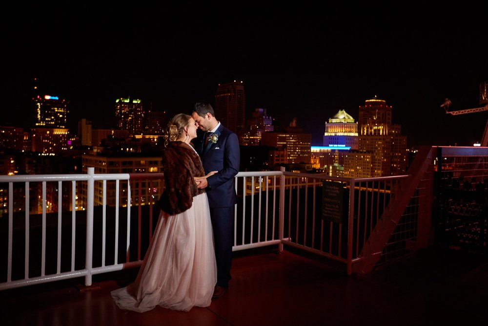 Old Cathedral Wedding and City Museum Reception by St Louis Wedding Photographers Oldani Photography