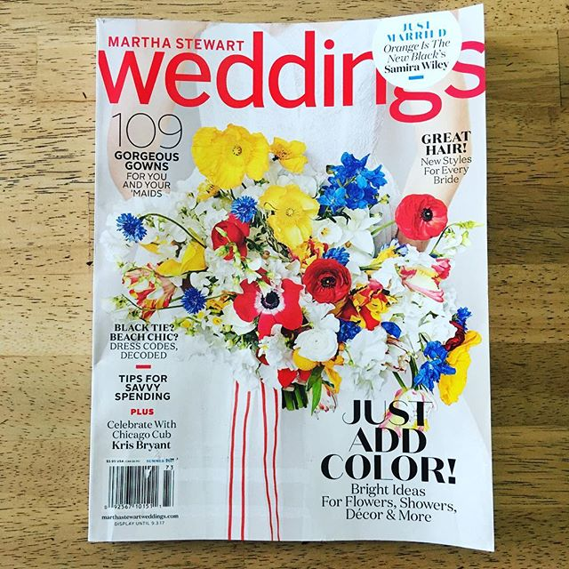 Just got back from the mailbox and I'm in love with the bouquet on the cover of the Summer 2017 issue of Martha Stewart Weddings. #marthasrewartweddings #weddingbouquets #bouquet
