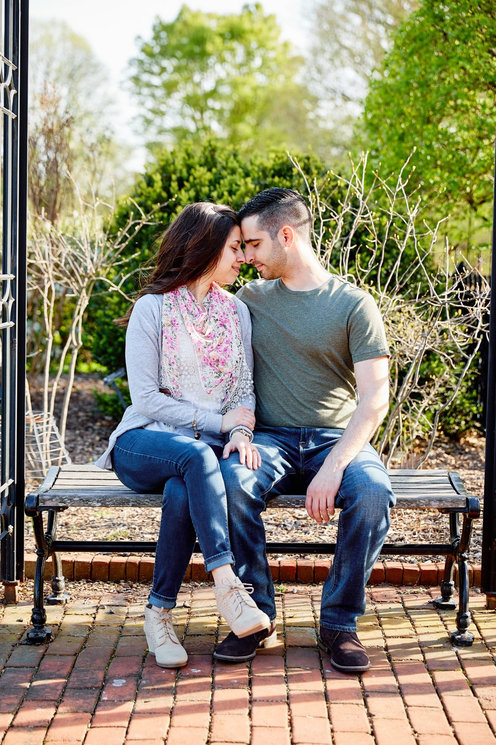 MOBOT Missouri Botanical Gardens and Washington University Wash U Engagement Session Photographs by St Louis Wedding Photographers Oldani Photography
