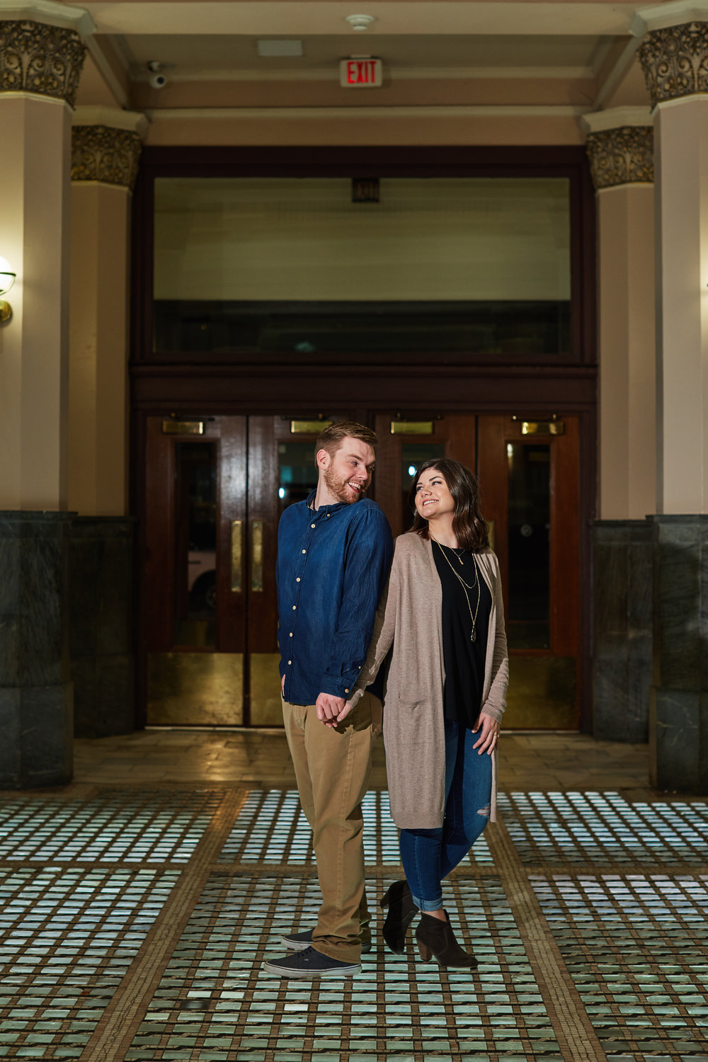 Union Station Engagement Session Photos and Photographs by St Louis Wedding Photographers Oldani Photography