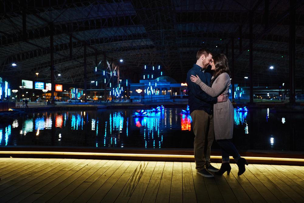 Union Station Engagement Session Photos and Photographs by St Louis Wedding Photographers Oldani Photography