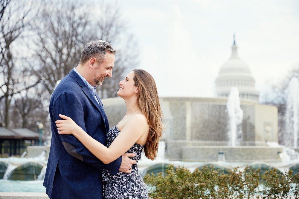 Washington DC and Captial Hill Engagement Session Photos and Photographs by St Louis Wedding Photographers Oldani Photography