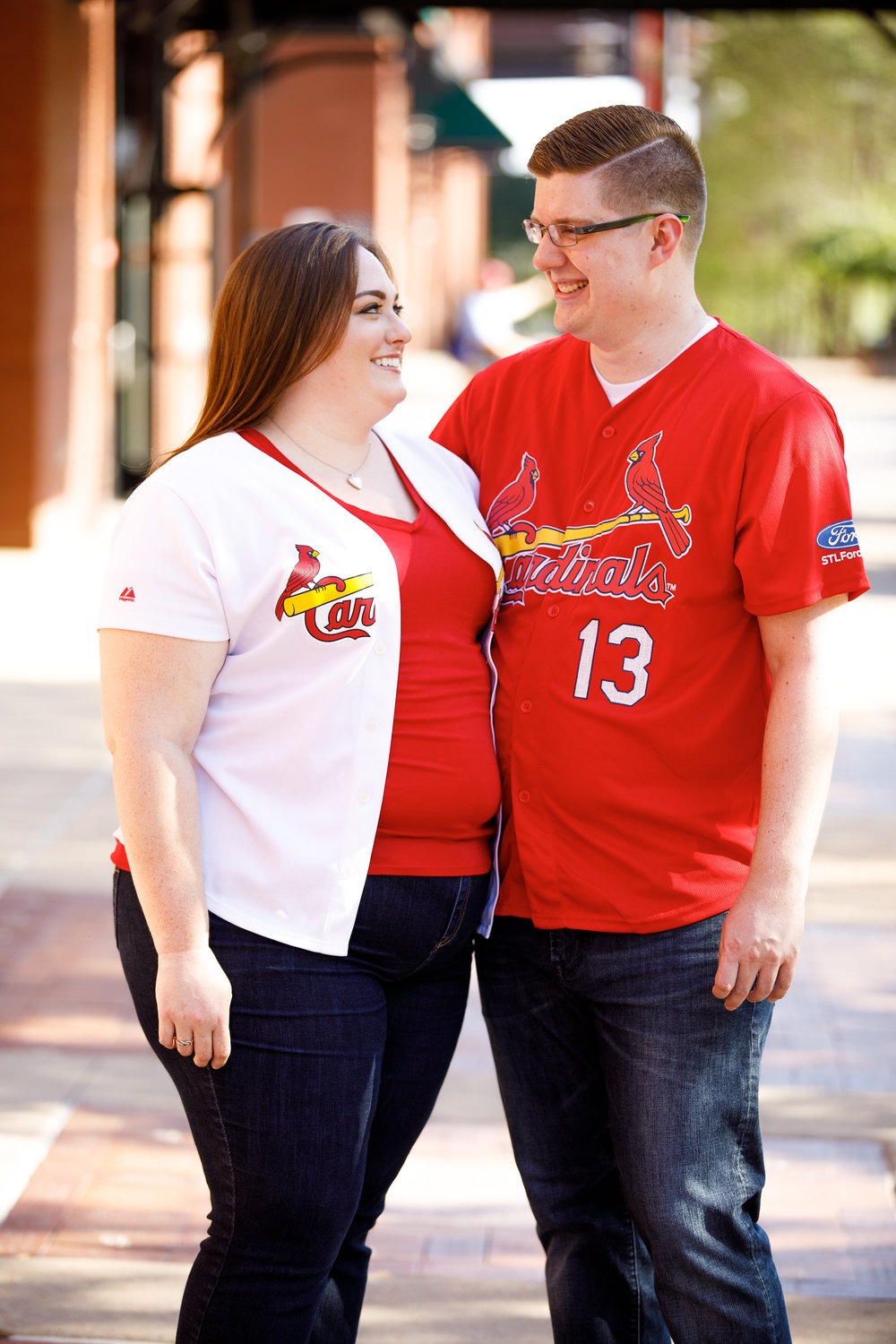 Busch Stadium and Forest Park Engagement Photos by St Louis Wedding Photographers and Videographers Oldani Photography 0.jpg