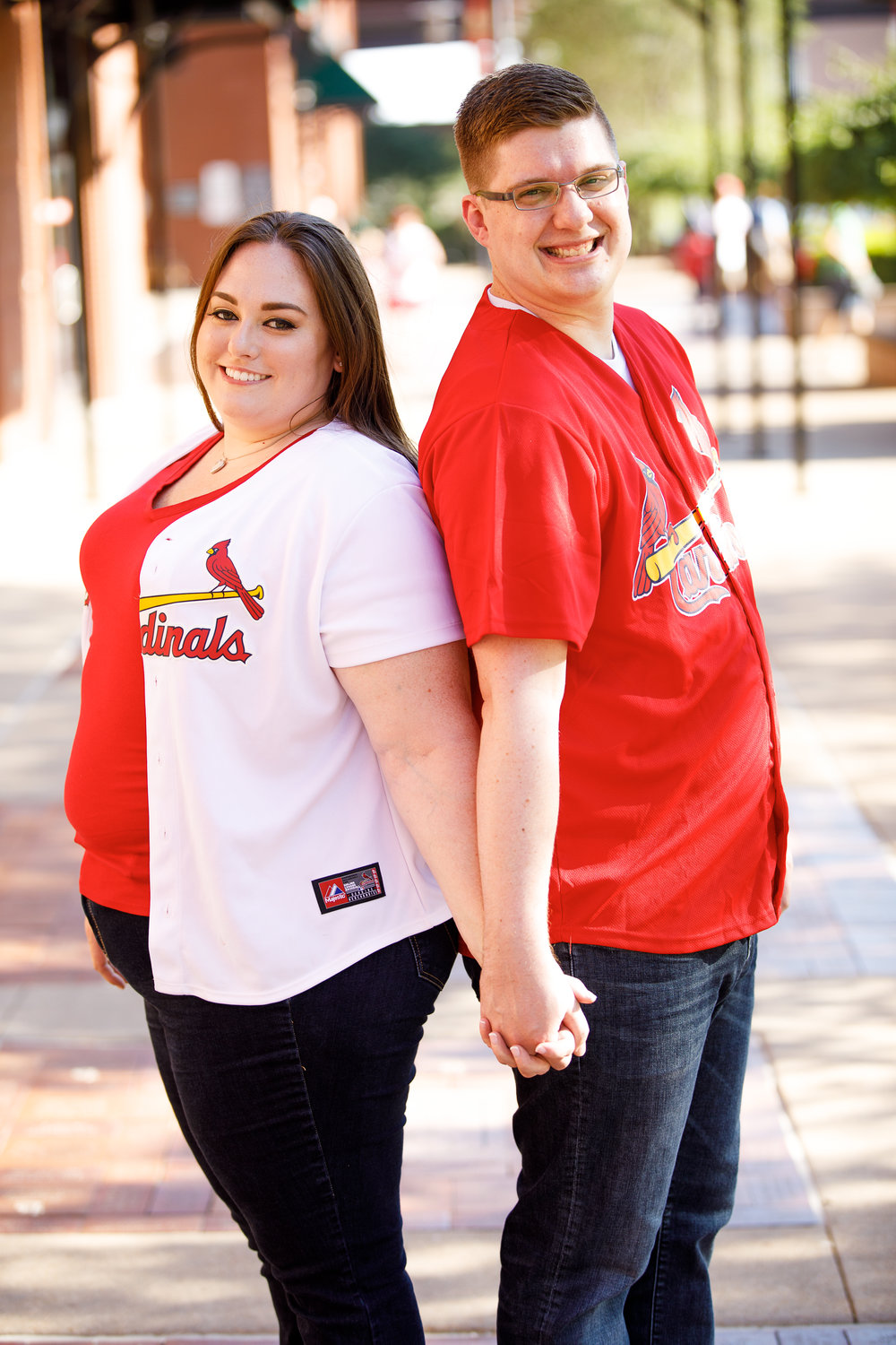Busch Stadium and Forest Park Engagement Photos by St Louis Wedding Photographers and Videographers Oldani Photography 1.jpg