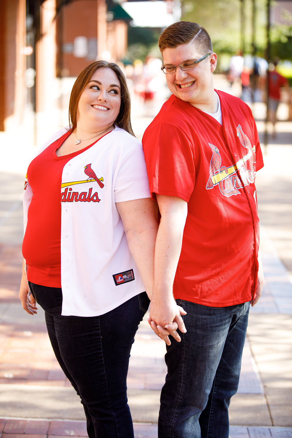 Busch Stadium and Forest Park Engagement Photos by St Louis Wedding Photographers and Videographers Oldani Photography 2.jpg