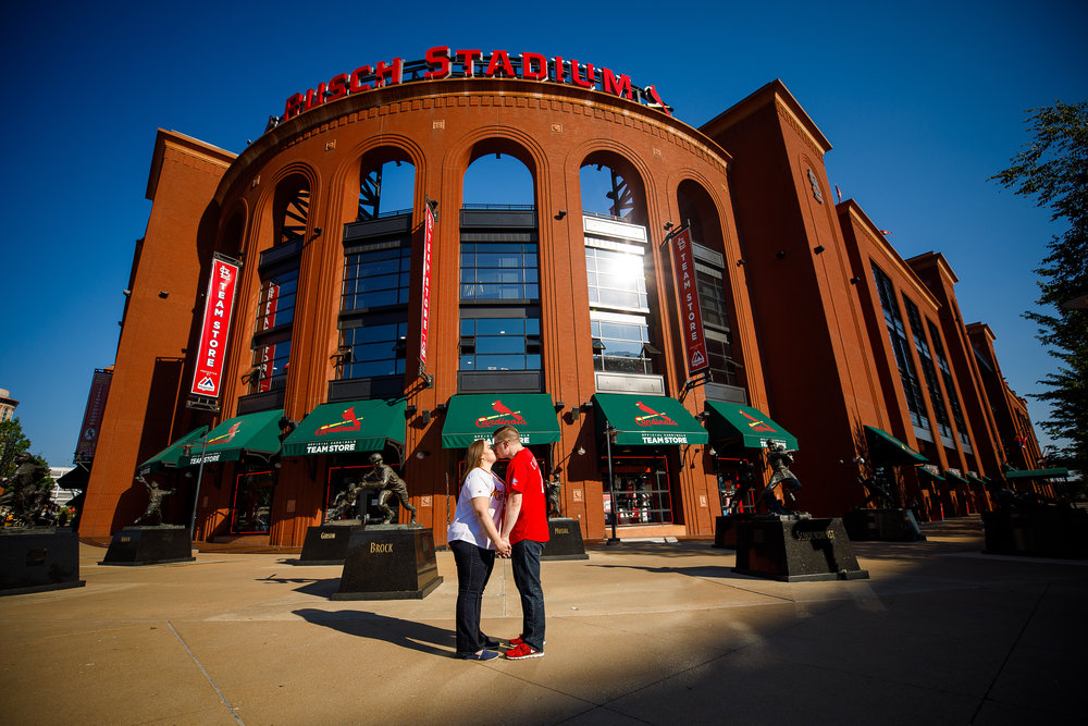 Busch Stadium and Forest Park Engagement Photos by St Louis Wedding Photographers and Videographers Oldani Photography 3.jpg