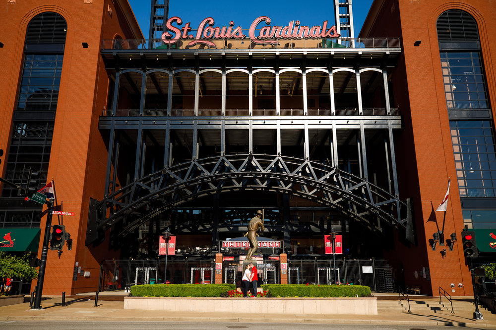 Busch Stadium and Forest Park Engagement Photos by St Louis Wedding Photographers and Videographers Oldani Photography 5.jpg