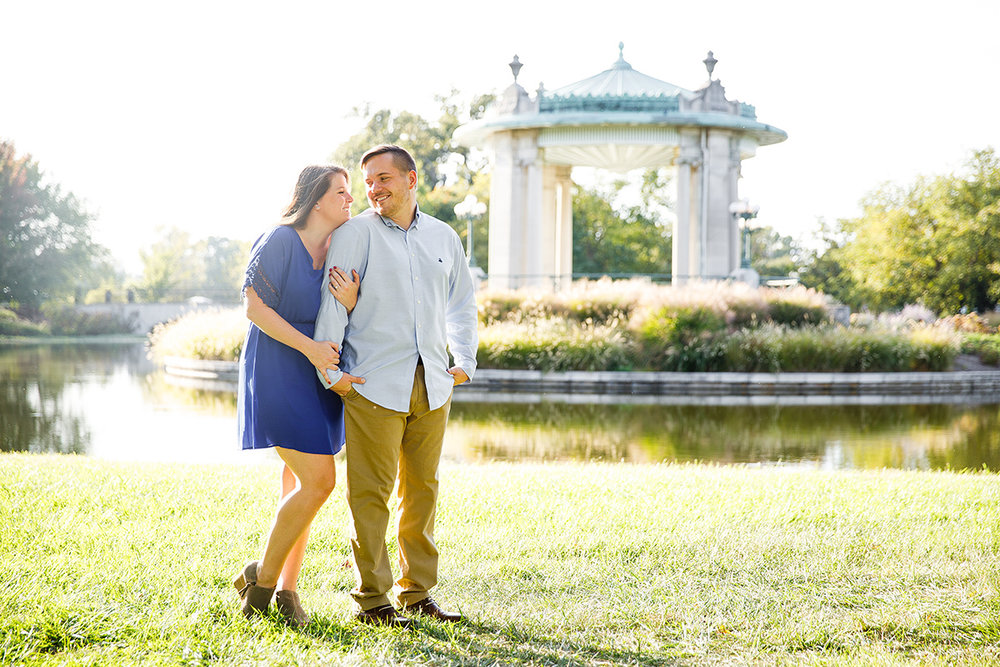 Forest Park Engagement Photos by St Louis Wedding Photographers and Videographers Oldani Photography