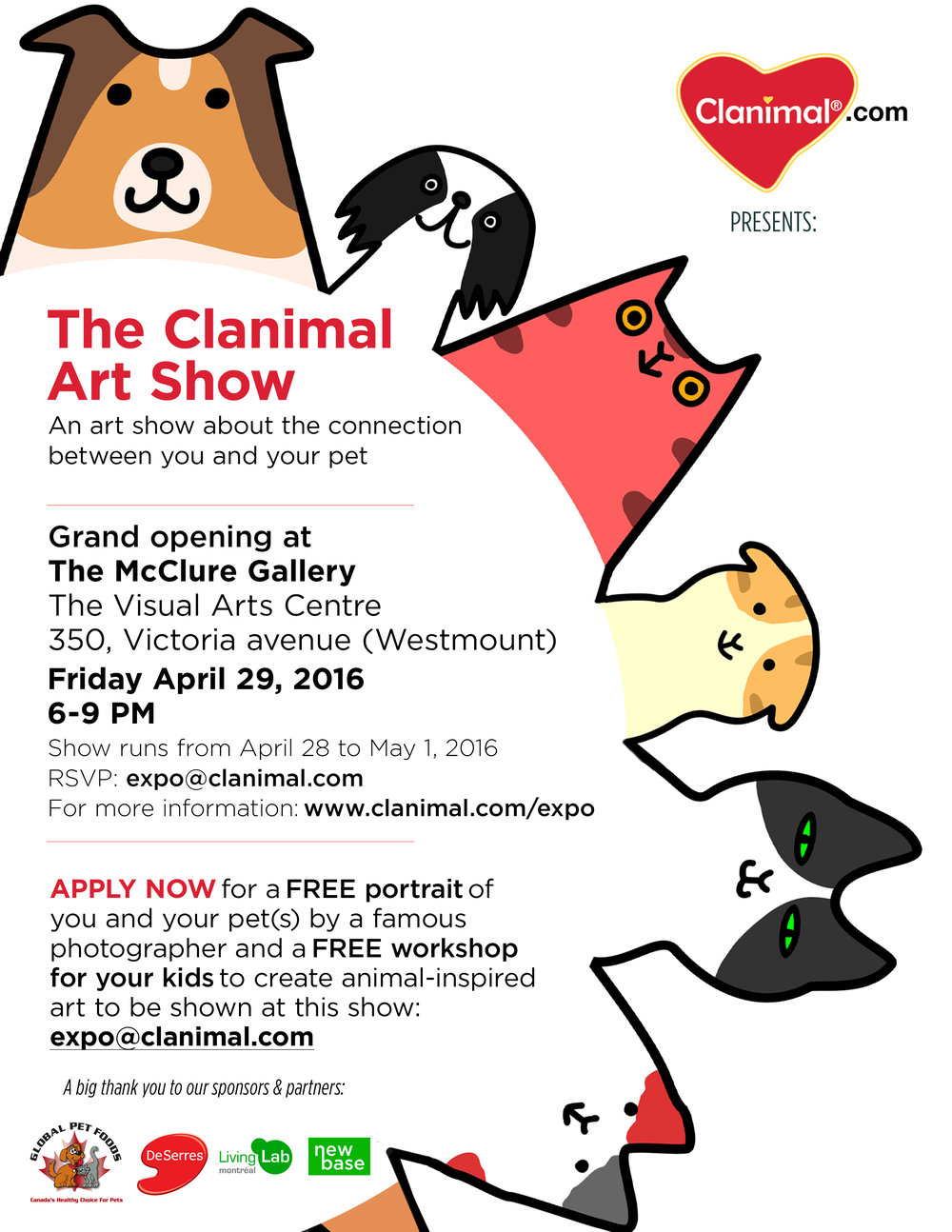 CLANIMAL ART SHOW POSTER