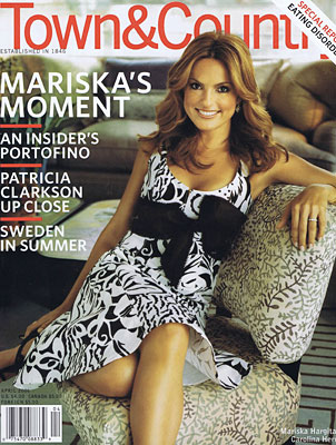 Town & Country   —  The furniture pieces we created for Mariska Hargitay were highlighted in her feature article.