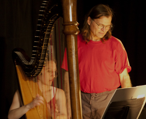 Piper Runnion-Bareford, harp; Mark Warhol, composer