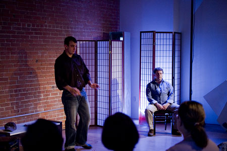 """Sightlines""  Allen Phelps (l) as David; Jason Tamborini as Sonny"