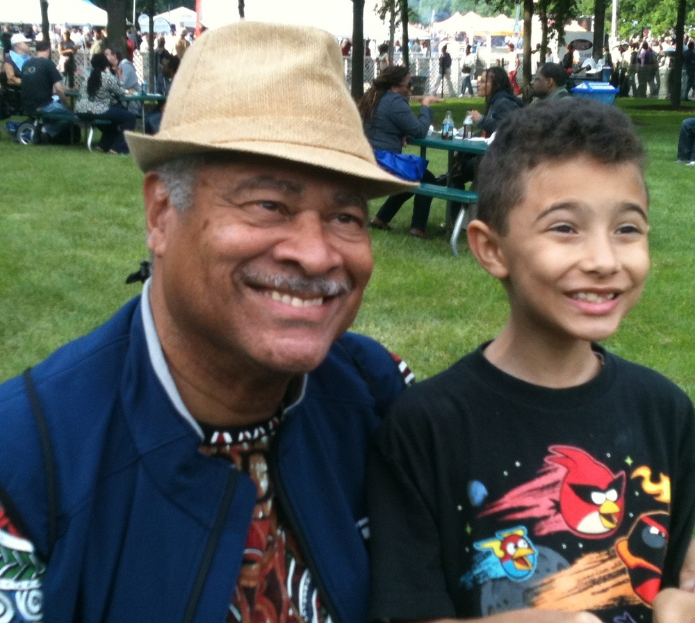 Charles Dumas and grandson