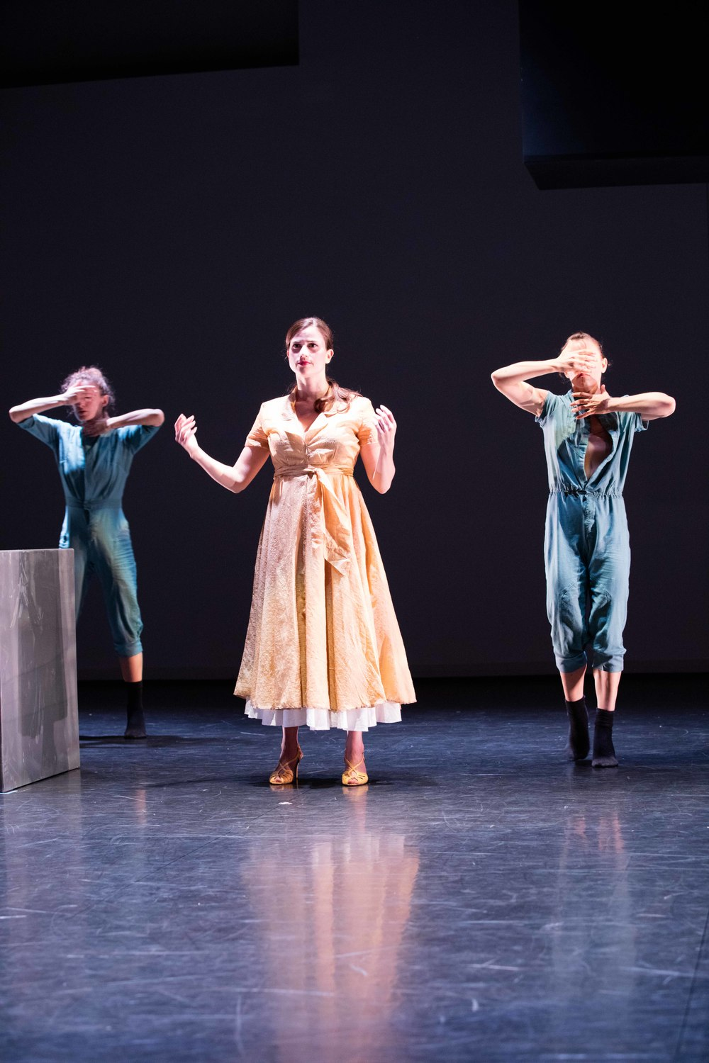 From the left: Nina Brindamour, Anna Ward, and Danielle Davidson/photo by Daniel J. van Ackere