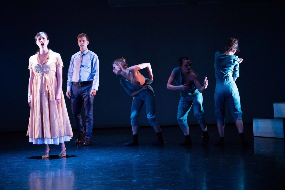 From the left: Anna Ward, Patrick Massey, Nina Brindamour, Danielle Davidson, and Magdalena Gyftopoulos/photo by Daniel J. van Ackere