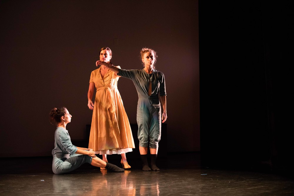 From the left: Magdalena Gyftopoulos, Nina Brindamour, and Anna Ward/photo by Daniel J. van Ackere