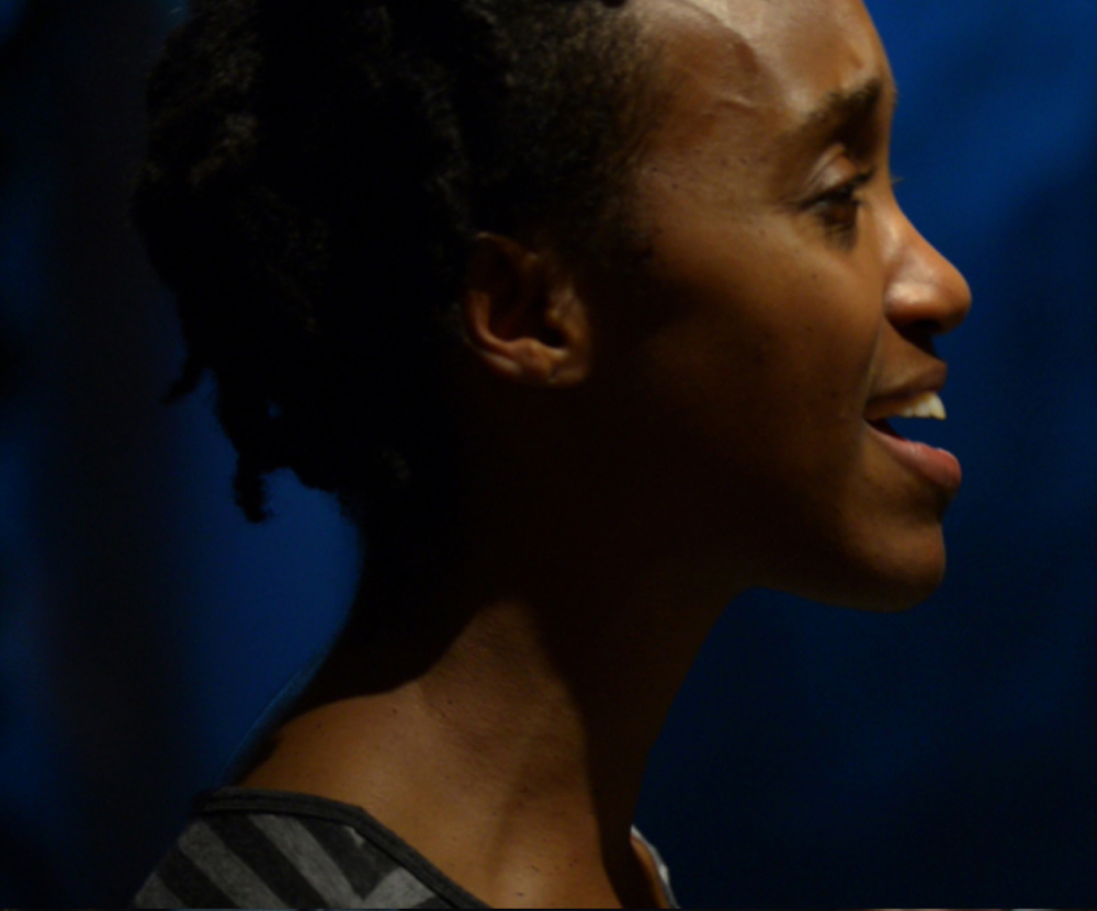 Robin JaVonne Smith plays Anna Lion in Fort Point Theatre Channel's premiere production of Dreambook. photo by Bruce Petschek